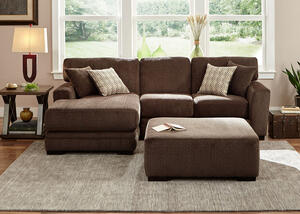Easton Chocolate 2 Pc. Sectional (Reverse)