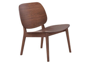 Priest Lounge Chair Walnut Walnut