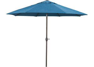Medium Blue Auto Tilt Umbrella