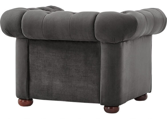 Barrington Charcoal Velvet Chair