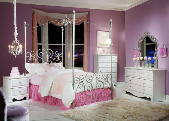 HAILEY 5 PC FULL CANOPY BEDROOM