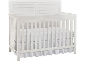 Castello Weathered Seashell White Convertible Crib by Ti Amo