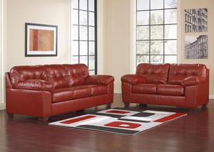 Maxim 2 Pc Living Room Red