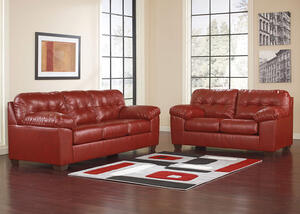 MAXIM 2 PC LIVING ROOM RED