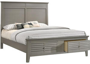 Malibu Gray Queen Bed