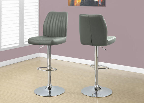 Hillburn Gray 2 Pc. Channel Quilt Barstool