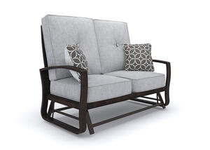 Turtle Bay Loveseat Glider Gray