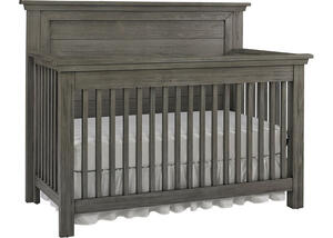 Lucca Weathered Gray Flat Top Convertible Crib by Dolce Babi