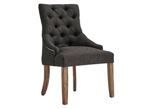 Dark Gray Tufted Dining Chair Gray