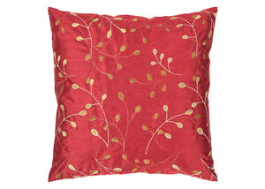 Blossom Throw Pillow Red
