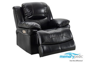 Neptune Black Power Recliner w/Power Headrest