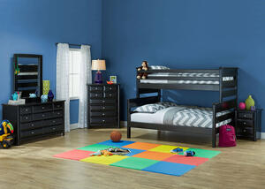 Catalina Black 4 Pc. Twin/Full Bunk Bedroom