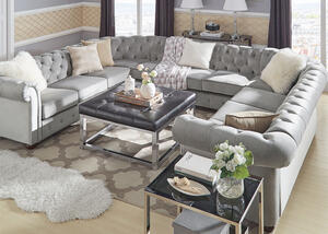 Barrington Gray Velvet 11-Seat U Sectional