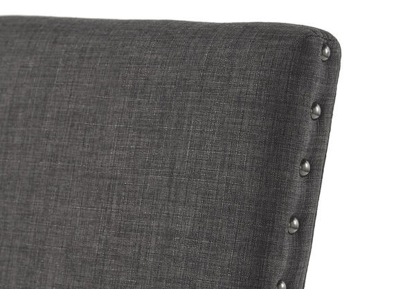 Drk Gray Linen Nailhead Chair Gray