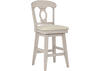 "White 24"" Swivel Cntr Ht Chair White"