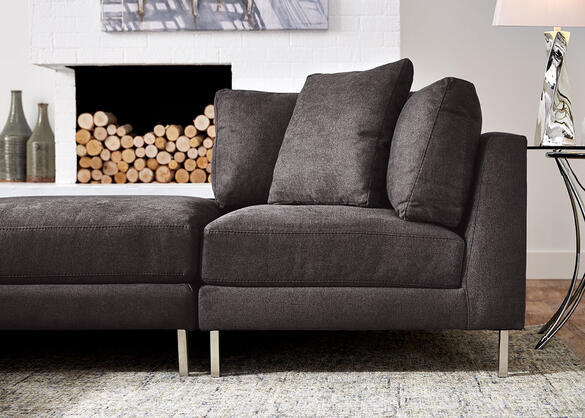 Capricorn Charcoal 6 pc. Sectional (Reverse)