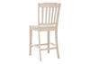 "White Spindle 24"" Cntr Chair White"