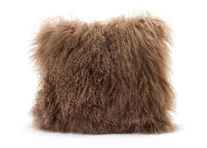 Lamb Fur Light Brown Pillow