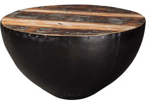 Industrial Round Black Iron Coffee Table By Scott Living