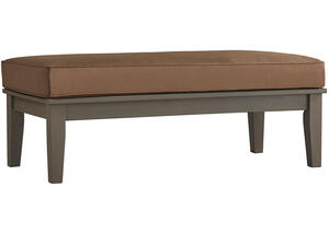Newport Gray Cocktail Table/Bench w/Cushion