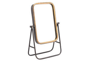 Mirror With Stand Yellow
