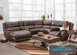 Cougar 6 Pc Sectional Reverse W Armless Chair