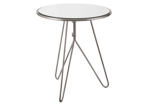 Mirrored End Table Silver