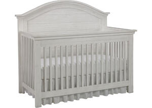 Lucca Sea Shell White Full Panel Convertible Crib by Dolce Babi