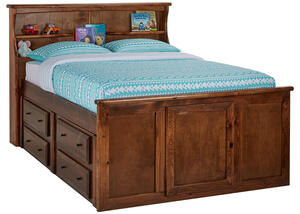 CATALINA FULL CH BCKS STRG BED CHESTNUT