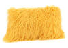 Lamb Fur Pillow Yellow