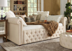Barrington Beige Linen Full Daybed
