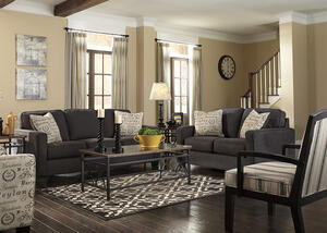 Arthur Charcoal 3 Pc. Sleeper Living Room w/Accent Chair