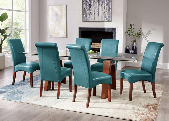 Cora Teal 7 Pc. Dinette