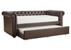 Barrington Faux Leather Daybed w/Trundle