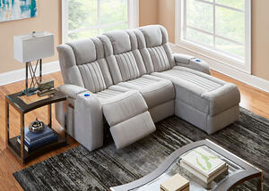 Tesla Fabric 3 Pc. Power Sectional