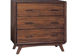 Mid-Century Modern Brown Accent Cabinet by Scott Living