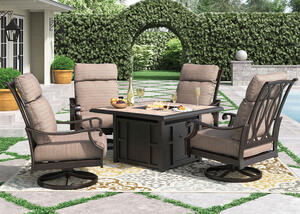 Grand River 5 Pc. Fire Pit Patio Set