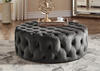 Barrington V Rnd Cktl Ottoman Charcoal