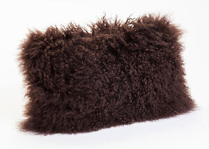 Lamb Fur Brown Pillow