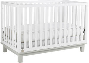 Riley Snow White/Misty Gray Convertible Crib by Fisher Price