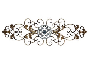 Traditional Scroll Wall Decor Champagne