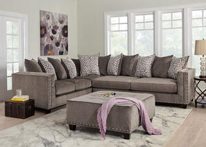 Bristol Silver 2 Pc. Sectional (Reverse)