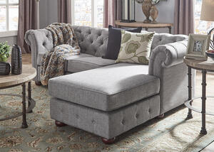 Barrington Gray Linen Sofa Chaise