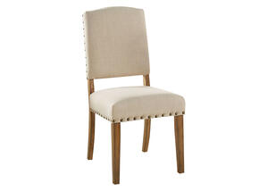 Nailhead Chair Beige Richland
