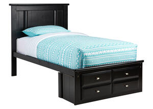 CATALINA TWIN PLATFORM BED BLK BLACK