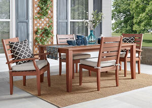 Newport Brown 5 Pc. Dinette w/Cushions