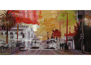 Red Street Wall Decor Multi