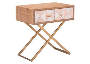 Mod End Table Brown