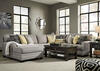 Claudine 4 Pc. Sectional w/Armless Loveseat & Chaise (Reverse)