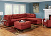 MARLO 2 PC LAF SECTIONAL RED